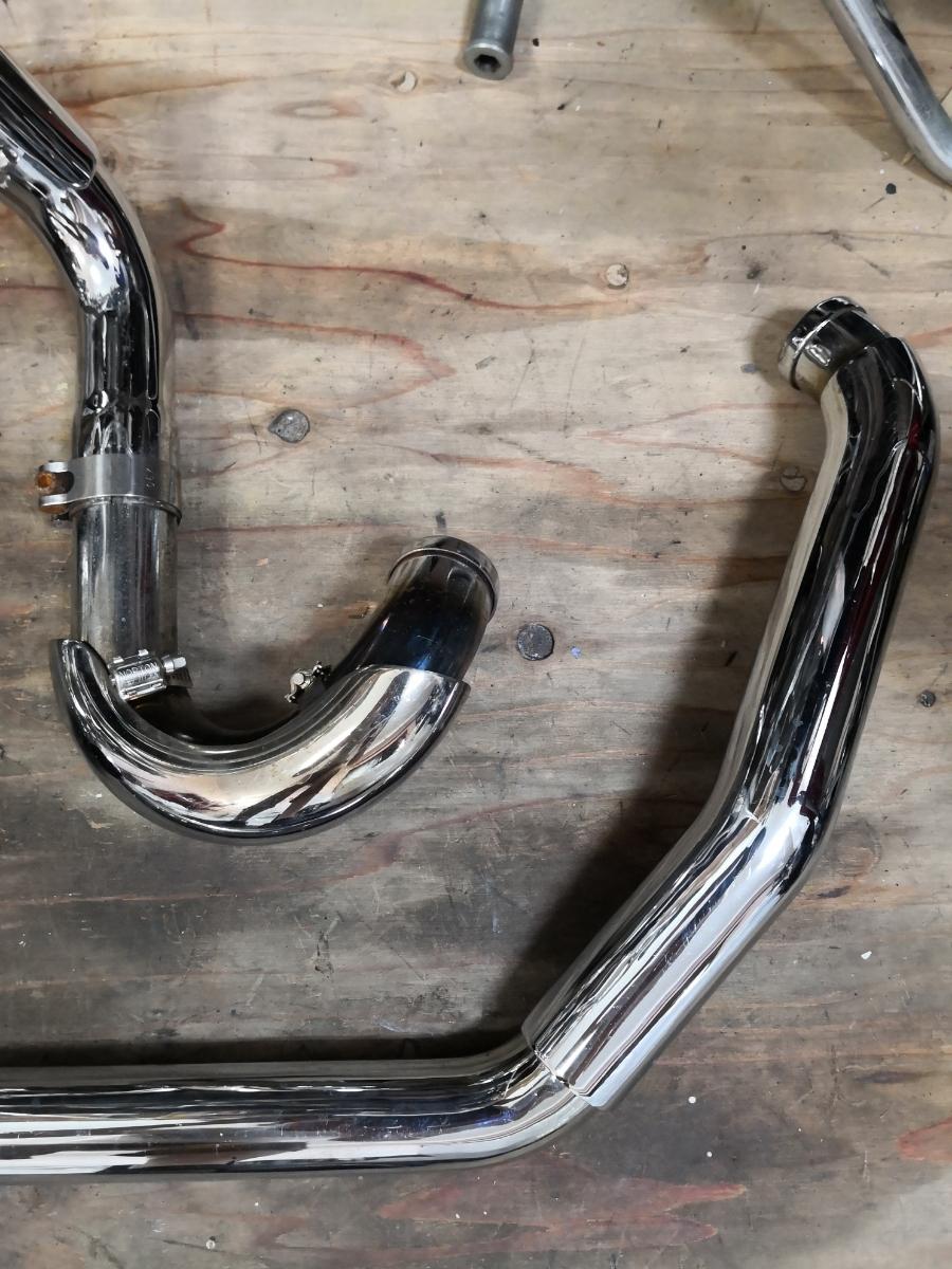 ソフテイルエボ(95-06) サムソン独立管とフィッシュテールマフラー 中古美品_画像2