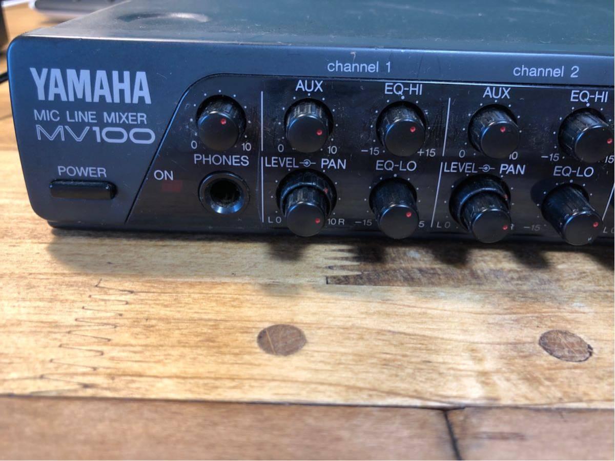 YAMAHA MV100 mic line mixer ミキサー_画像2