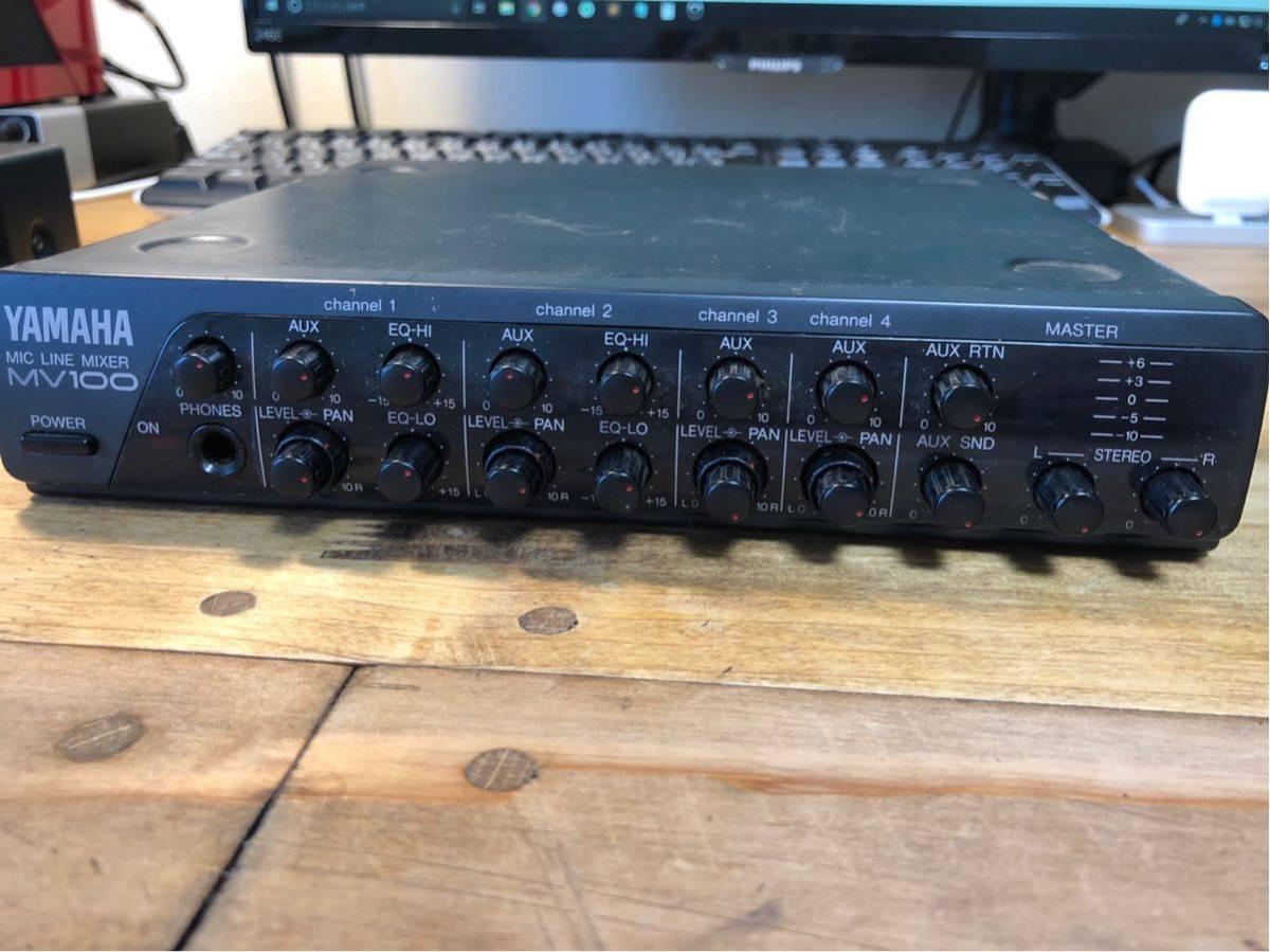 YAMAHA MV100 mic line mixer ミキサー