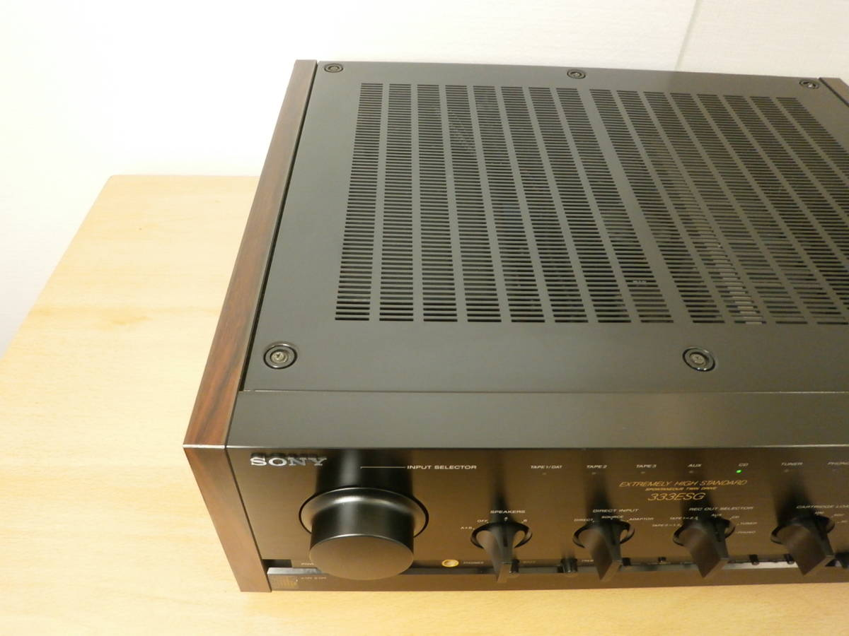 完全整備済 SONY TA-F333ESG 保証付 信じられない高性能スペック 取説 学習リモコン付 1円開始 素晴らしい音です。 pma pm a l cdp md e s _画像7