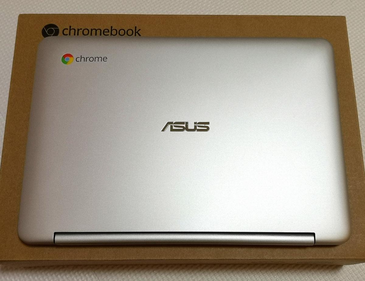 【1円!中古美品!】ASUS Chromebook Flip ノートパソコン C100PA-RK3288 完動品 10.1インチ タッチパネル 360度回転 タブレット 送料無料!_画像2