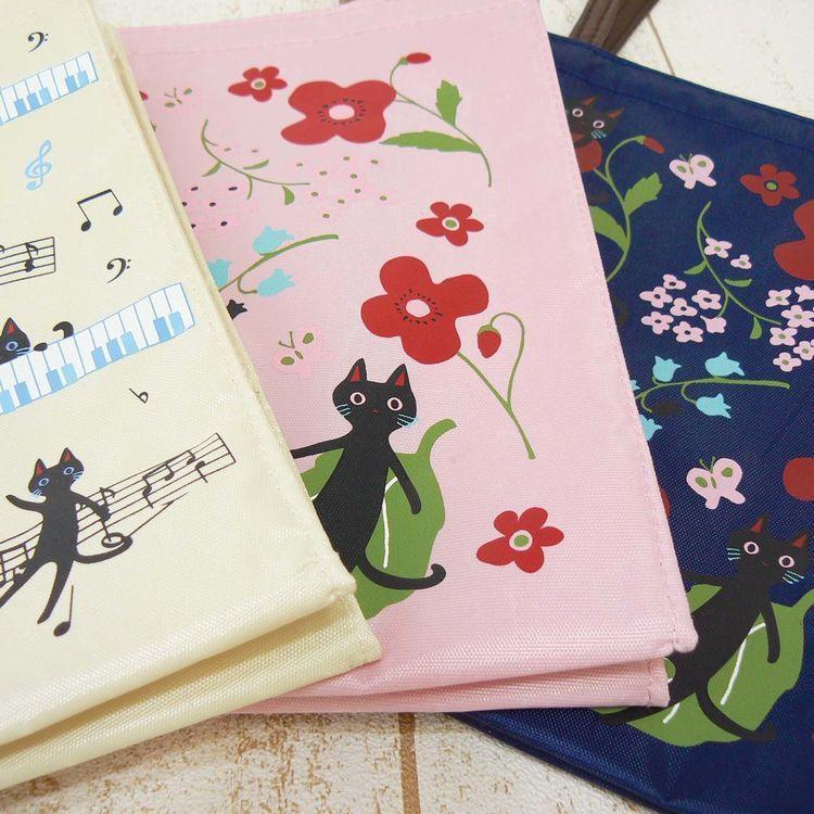 NEKOにゃーご ミニトートバッグ 人気の猫柄 ピンク ネコ ねこ 猫 お花 送料無料 _画像2