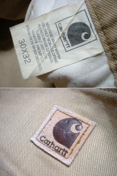 CarharttキャンバスペインターパンツW30ベージュ正規カーハートLot.0083 CANVASダックPAINTER PANTS_画像3