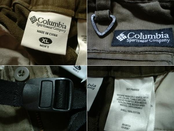 ColumbiaトレイルパスアウトドアカーゴパンツXLカーキオリーブ正規コロンビアOUTDOORベルクロCARGOアウトドア_画像3