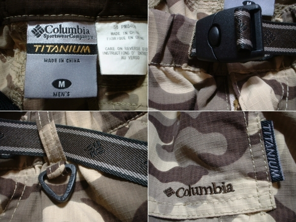 Columbia TITANIUM迷彩ボーグ3/4パンツ美品Mカモフラ正規コロンビア七分丈クロップドアウトドアショーツ完売モデル_画像3