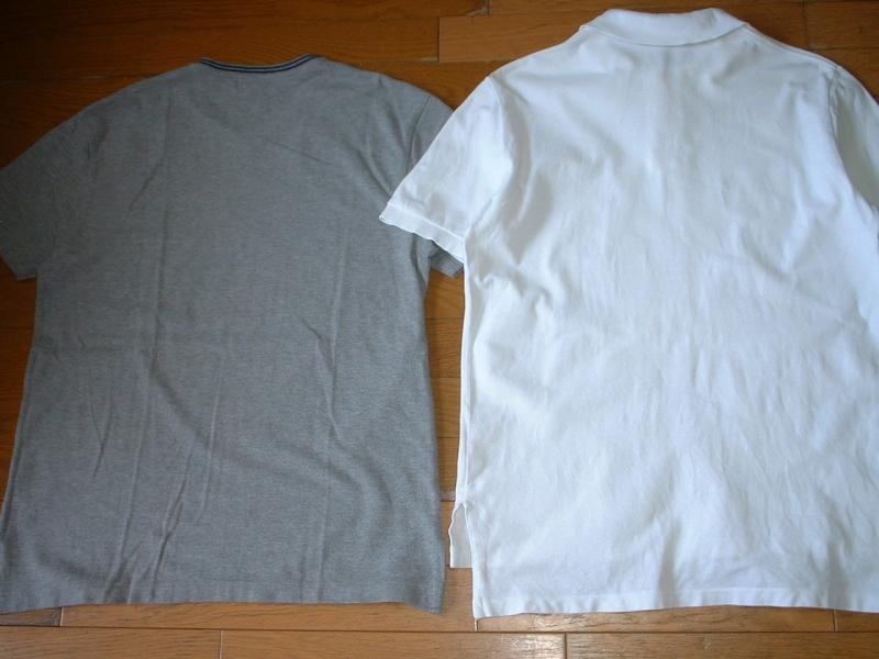 超お得2着セットRalph Laurenワンポイント鹿の子Tシャツ&ポロシャツL正規ラルフローレングレー&白ホワイトPOLO_画像2