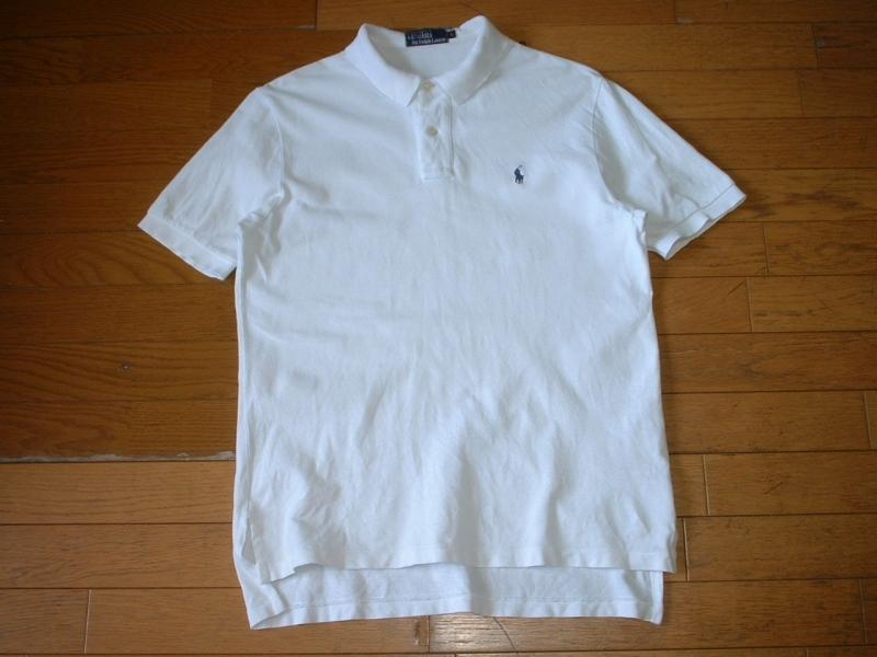 超お得2着セットRalph Laurenワンポイント鹿の子Tシャツ&ポロシャツL正規ラルフローレングレー&白ホワイトPOLO_画像5