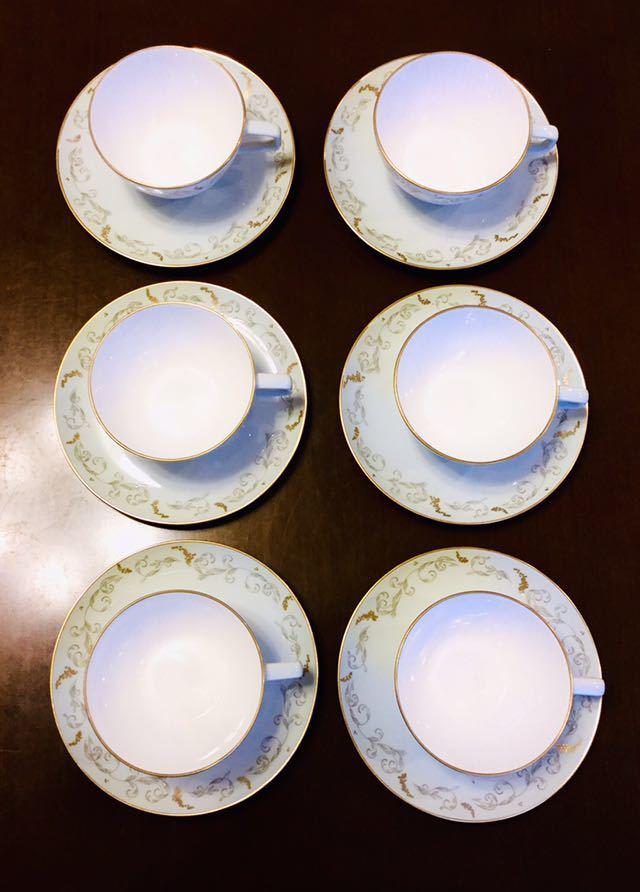 大倉陶園 100年前 紅茶 コーヒー カップ&ソーサー 6客