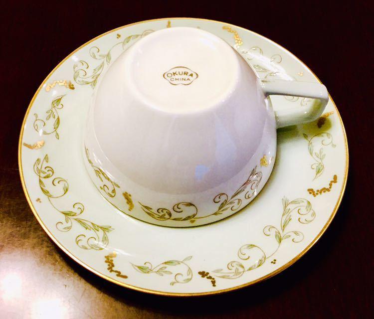 大倉陶園 100年前 紅茶 コーヒー カップ&ソーサー 6客_画像6
