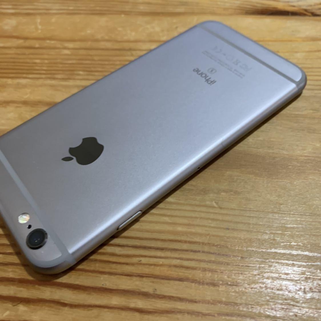 国内版SIMフリー!Apple iPhone6s 128GB 格安SIM スペースグレイ 送料無料 A1688_画像7