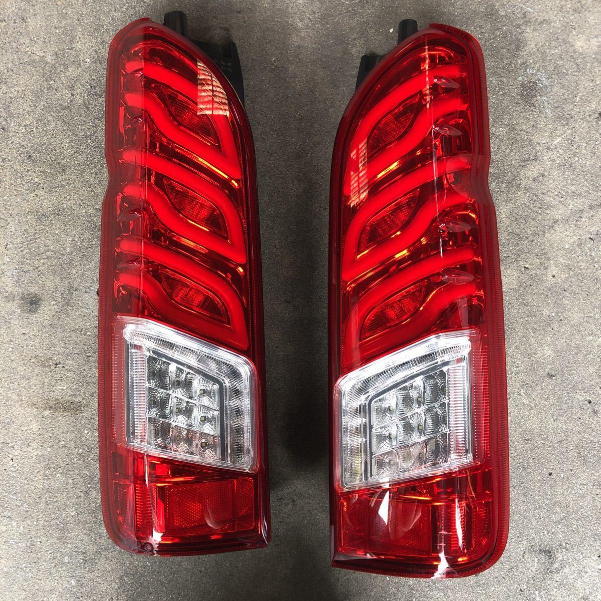 HIACE 200系 ハイエース LEDテールランプ シーケンシャルウインカー 左右セット_画像2