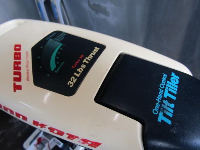ミンコタ ハンド電動船外機 Tilt Tiller 32lbs Thrust TURBO50,KISAKA BASS CHARGER 10,M27MF バッテリー全部まとめて!_画像2