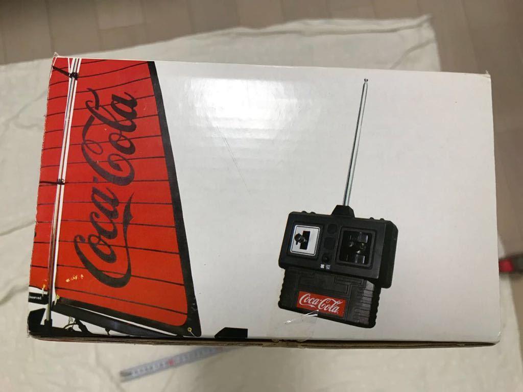 コカコーラ R/C ラジコン ヨット 船 Coca Cola レア セーリング ヨット 新品未使用 アンティーク 飾り_画像7