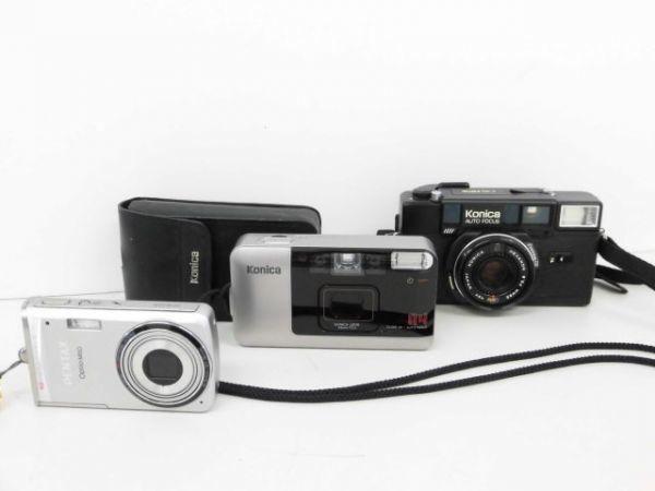 yo312☆ Konica コニカ / C35 AF2 AUTO FOCUS/A4 ビッグミニ/ペンタックス optio M60 カメラ3点まとめ売り