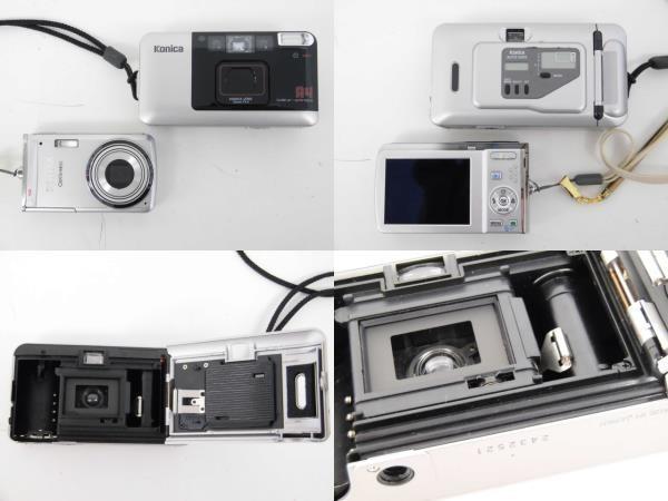 yo312☆ Konica コニカ / C35 AF2 AUTO FOCUS/A4 ビッグミニ/ペンタックス optio M60 カメラ3点まとめ売り_画像8