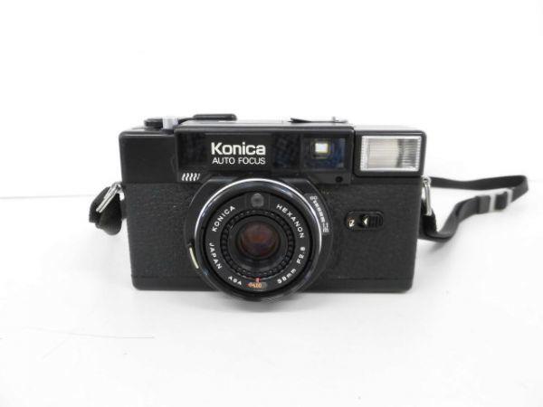 yo312☆ Konica コニカ / C35 AF2 AUTO FOCUS/A4 ビッグミニ/ペンタックス optio M60 カメラ3点まとめ売り_画像2