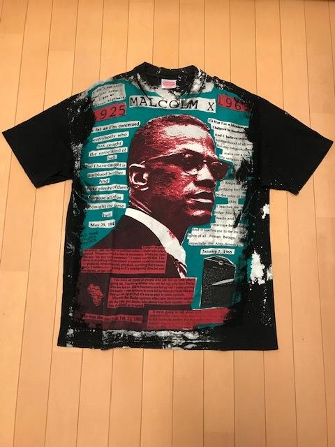90's モスキートヘッド MOSQUITOHEAD Tシャツ (XLサイズ) マルコムX ビンテージ / FEAR OF GOD アビー フォトT_画像1