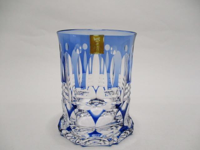 カガミクリスタル 切子 ロックグラス 1個 グラス 未使用