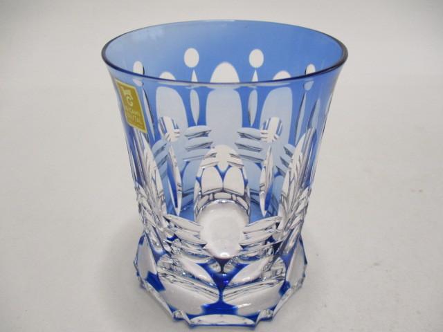 カガミクリスタル 切子 ロックグラス 1個 グラス 未使用_画像8