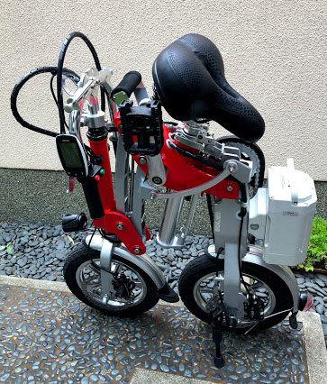ワンタッチアルミニウム折畳み自転車(電動アシスト付)_画像5