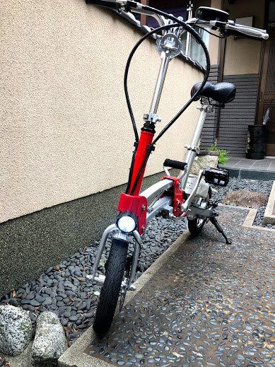 ワンタッチアルミニウム折畳み自転車(電動アシスト付)_画像3