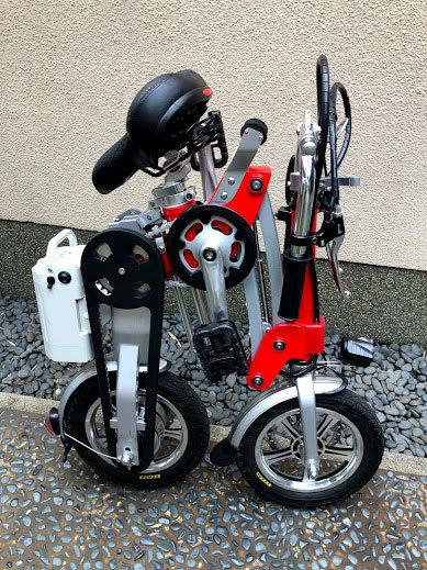 ワンタッチアルミニウム折畳み自転車(電動アシスト付)_画像4
