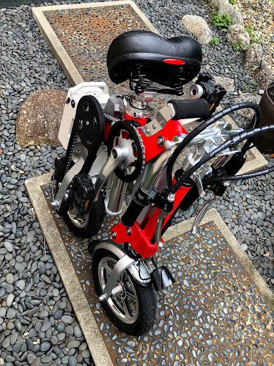 ワンタッチアルミニウム折畳み自転車(電動アシスト付)_画像6