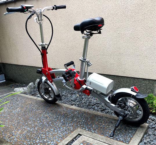 ワンタッチアルミニウム折畳み自転車(電動アシスト付)_画像2