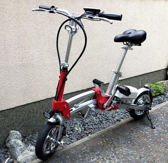 ワンタッチアルミニウム折畳み自転車(電動アシスト付)