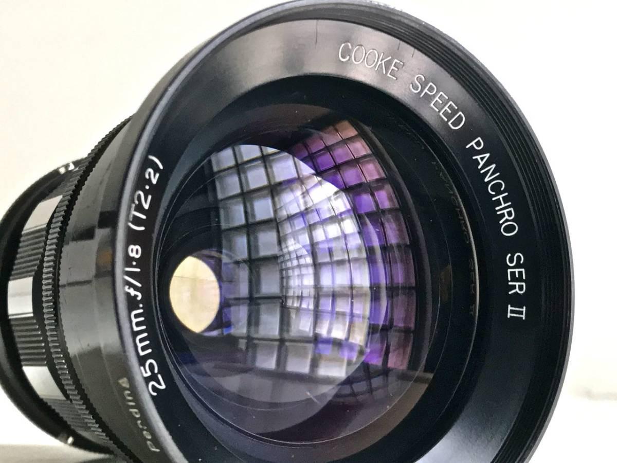 美品 希少 シネレンズTAYLOR-HOBSON COOKE SPEED PANCHRO SER II 25mm f/1.8 (T2.2) L39マウント改造 実用_画像2