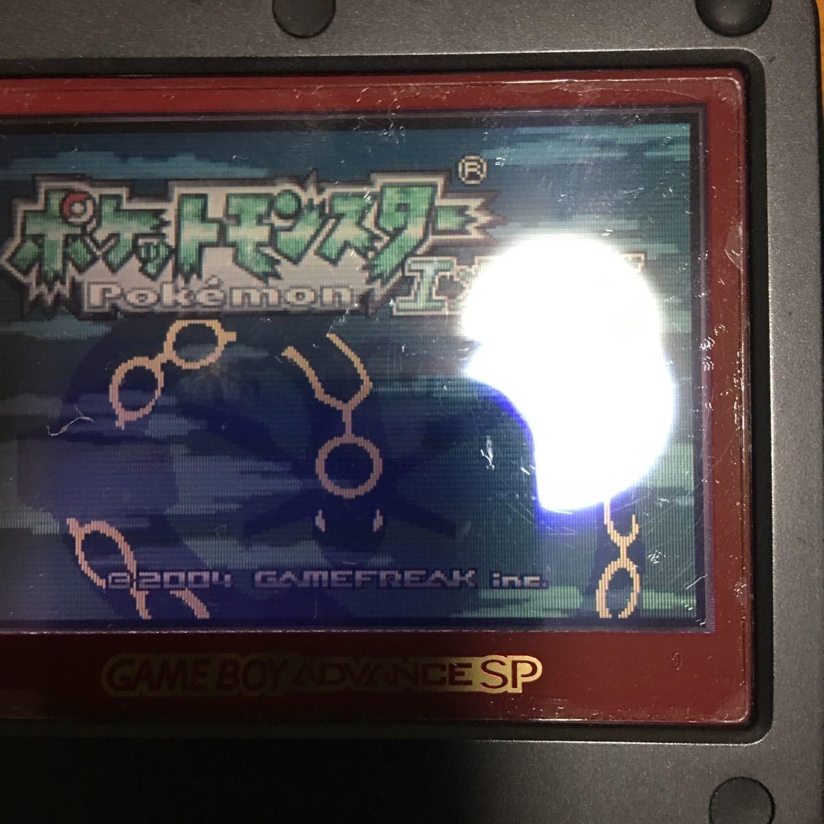 1円 GBA ポケットモンスター エメラルド ルビー サファイア リーフグリーン ファイアレッド 5本セット 起動確認済ゲームボーイアドバンス _画像3