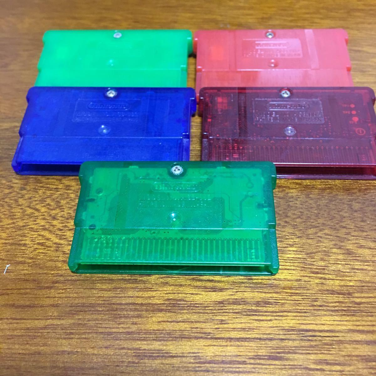 1円 GBA ポケットモンスター エメラルド ルビー サファイア リーフグリーン ファイアレッド 5本セット 起動確認済ゲームボーイアドバンス _画像2