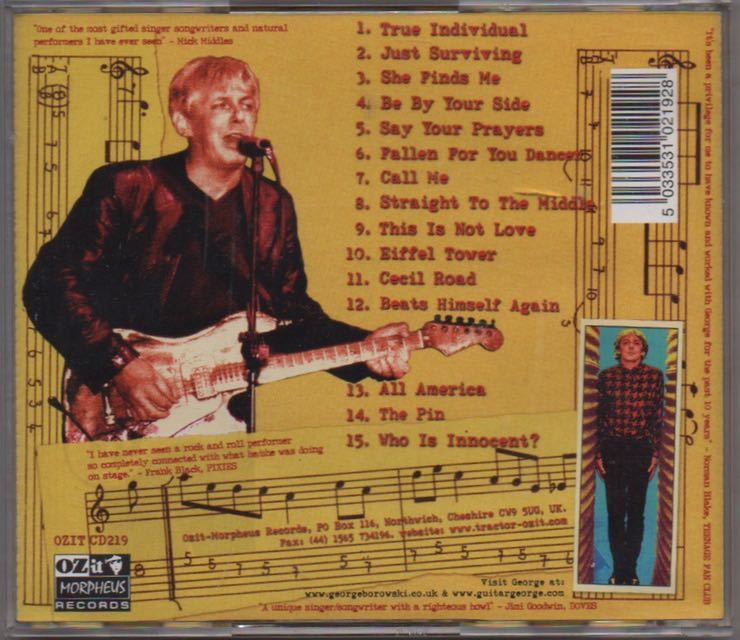 George Borowski[Check out Guitar George]ブリティッシュロック/パブロック/英国スワンプ/ルーツロック/Mark Knopfler(Dire Straits)関連_画像2