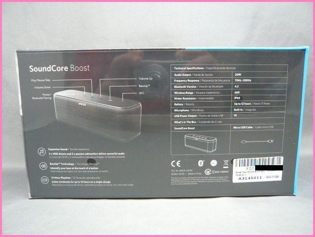 【未開封】ANKER SoundCore Boost A3145011 Bluetooth スピーカー ブラック アンカー_画像2