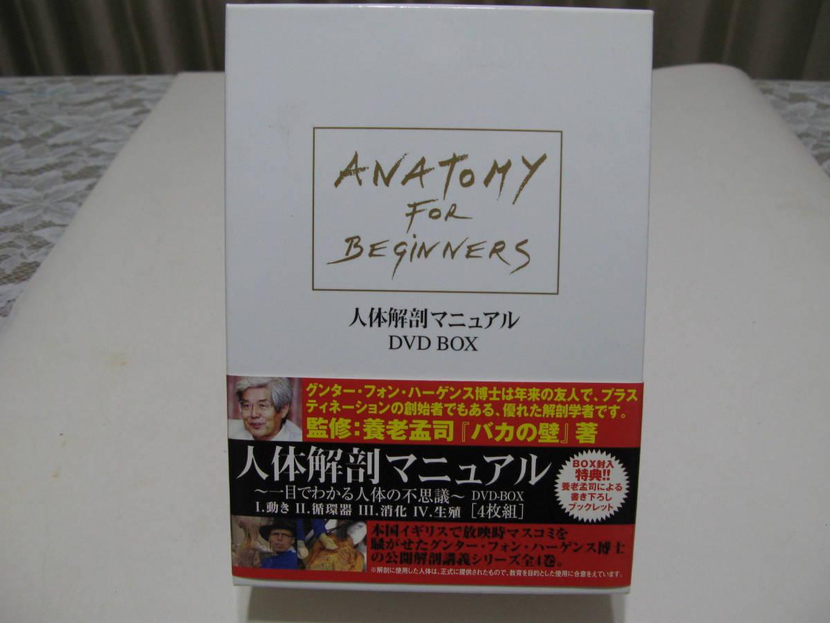 稀少/人体解剖マニュアル DVD BOX / ANATOMY FOR BEGINERS 監修:養老孟司