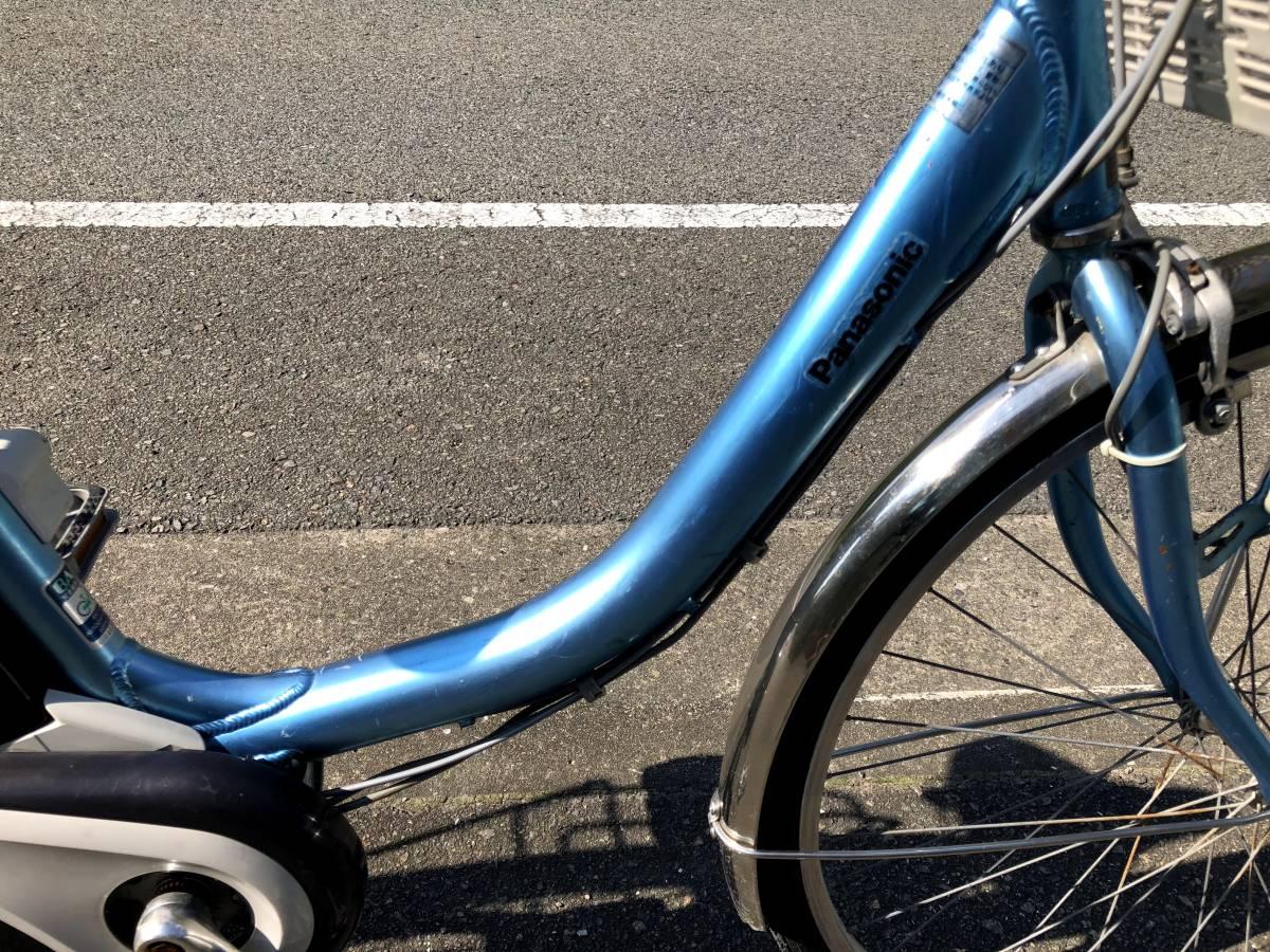 【神戸】【電動自転車 中古】パナソニック ALFIT vivi ブルー 26インチ 新基準リチウム_画像3