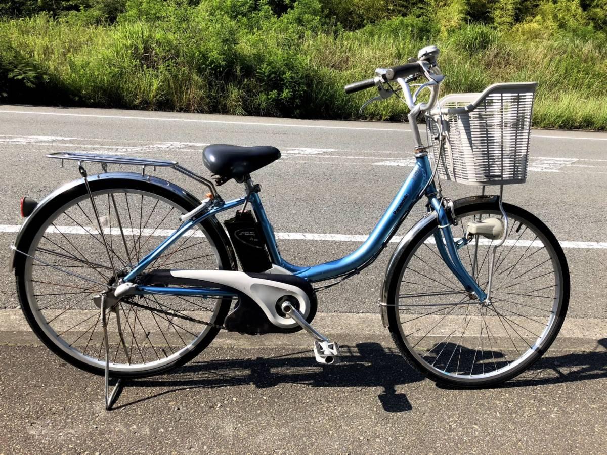 【神戸】【電動自転車 中古】パナソニック ALFIT vivi ブルー 26インチ 新基準リチウム