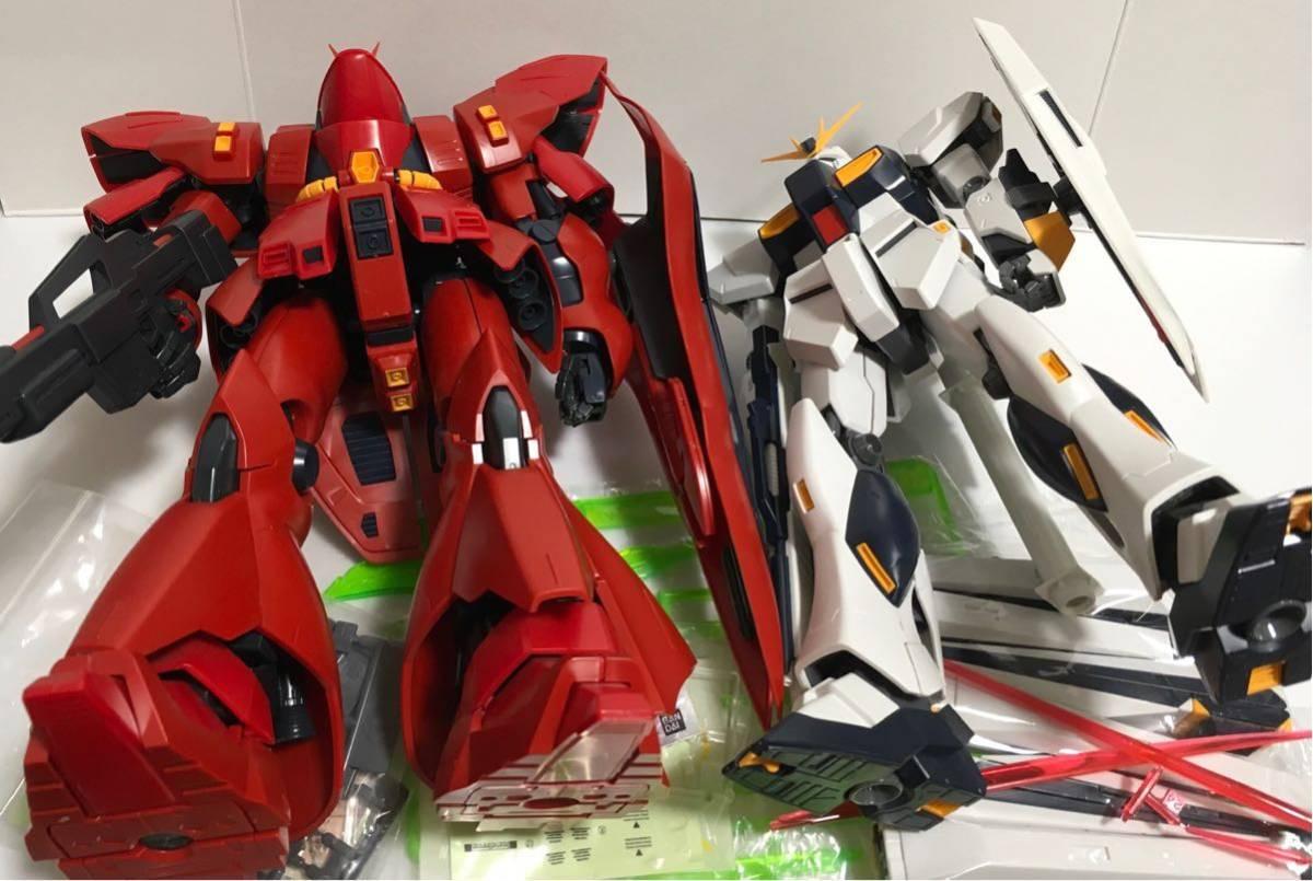 ◆バンダイ MG νガンダム & サザビー ジャンク 機動戦士 ガンダム逆襲のシャアシリーズ◆