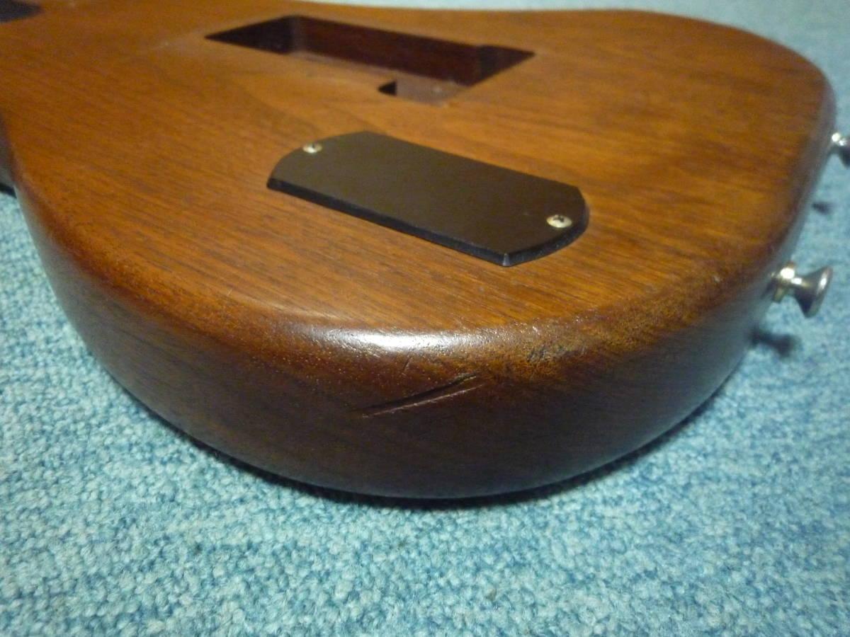 1980年代製 MOON Walnut 2PC Stratocaster Style Body ムーン ウォルナット材 2ピース ストラト スタイル ボディ ブラスピックガード PGM_画像10
