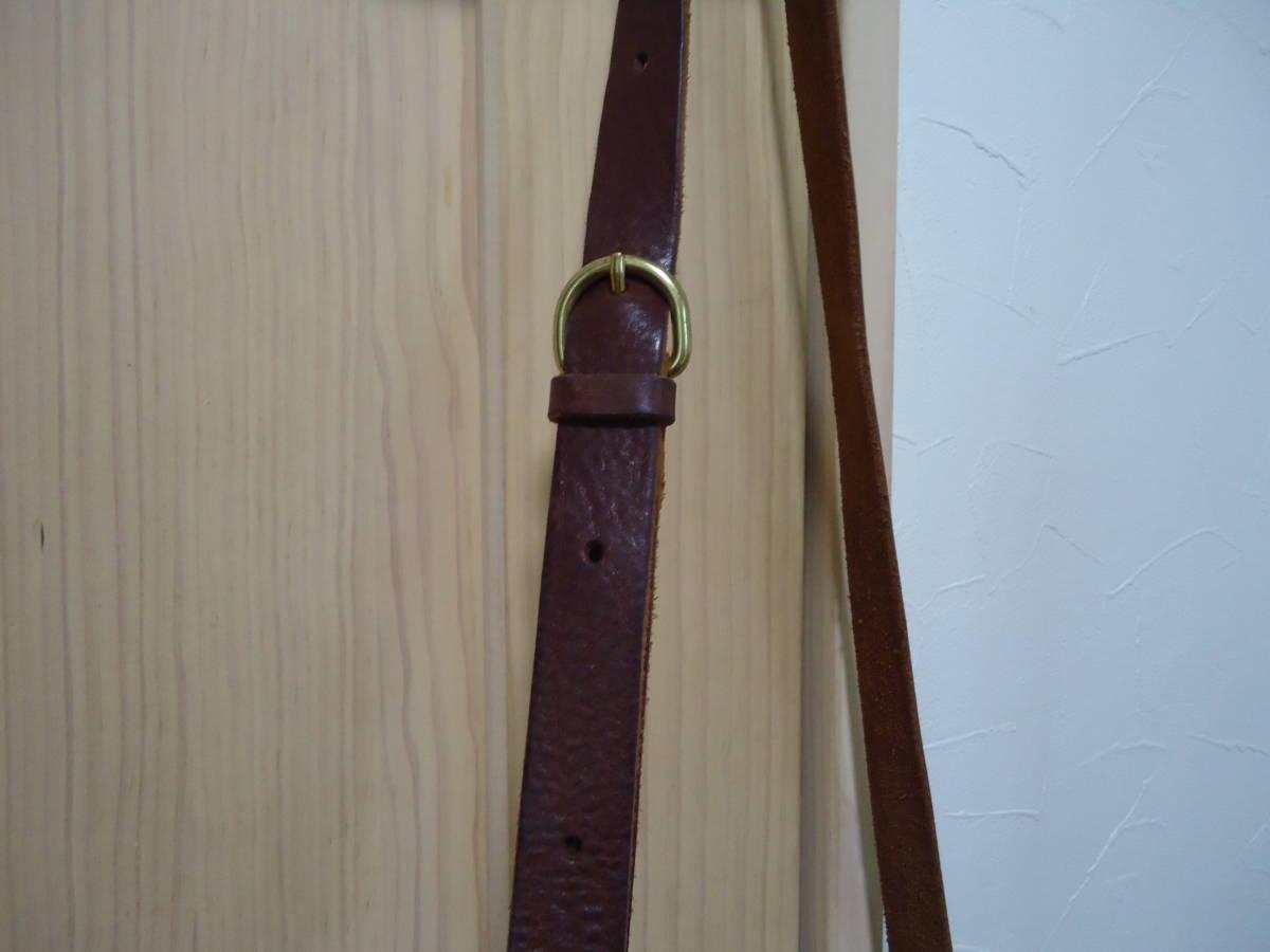 ◆イルビゾンテ◆イタリア製オイルヌメ革とキャンバスのコンビ 軽く個室3室の機能的な斜め掛け 美良品_画像6