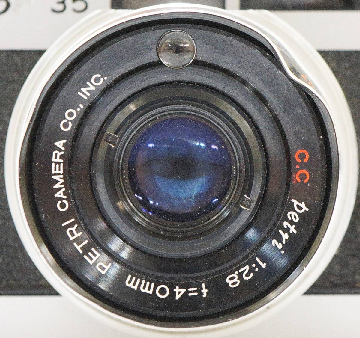 □ PETRI Color 35 ペトリ カラー35 コンパクト/フィルムカメラ Petri 1:2.8 f=40㎜ 動作未確認 訳あり 中古 現状品 ③_画像9