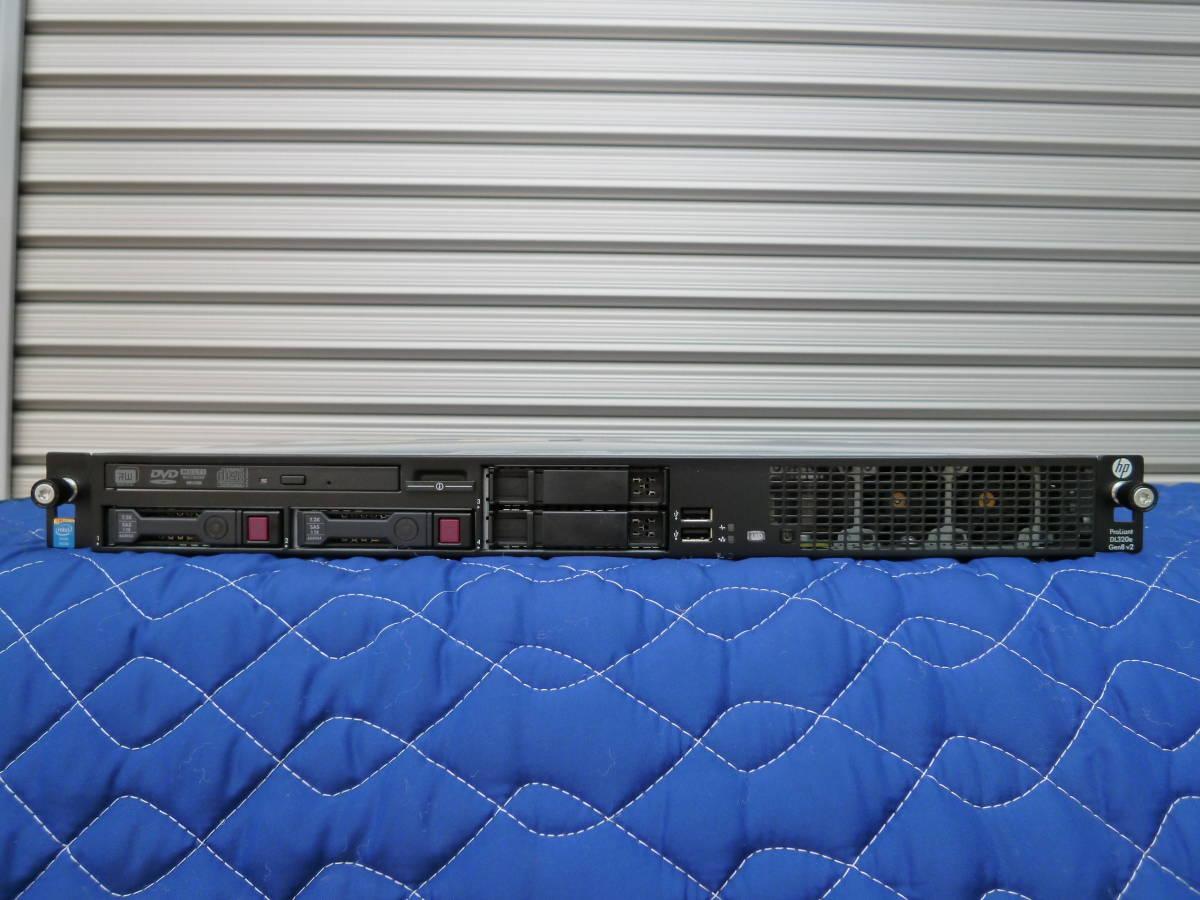 HP ProLiant DL320e Gen8 v2 Xeon E3-1240 v3(3.40GHz)/メモリ8GB/P222/HDD 1TB x2/OSなし