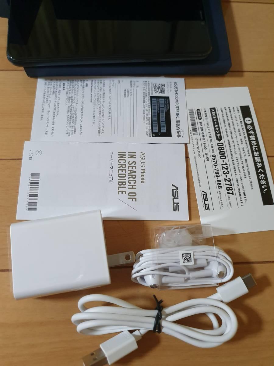 中古ASUS ZenFone 5Z 6.2インチ / SIMフリースマートフォン/シャイニーブラック (6GB/128GB/3,300mAh) ZS620KL-BK128S6/A