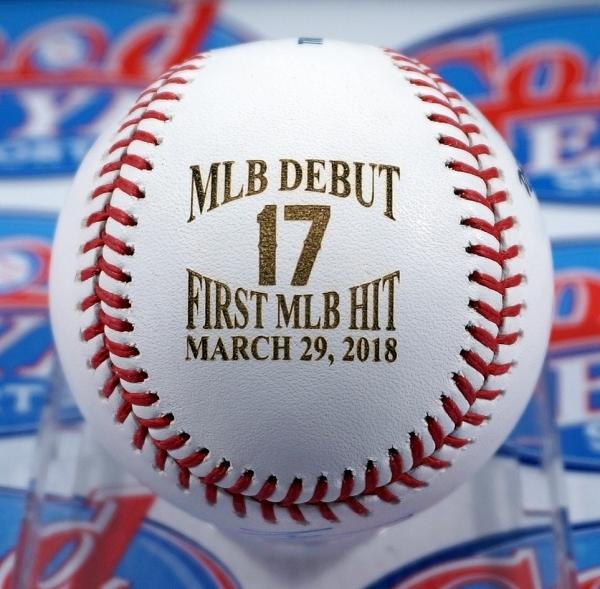 GE★限定版!大谷翔平2018年直筆サイン3月29日MLBデビュー・初ヒットMLB公式ボール+写真セット・スタイナー社証明書+MLB機構証明☆イチロー_画像2