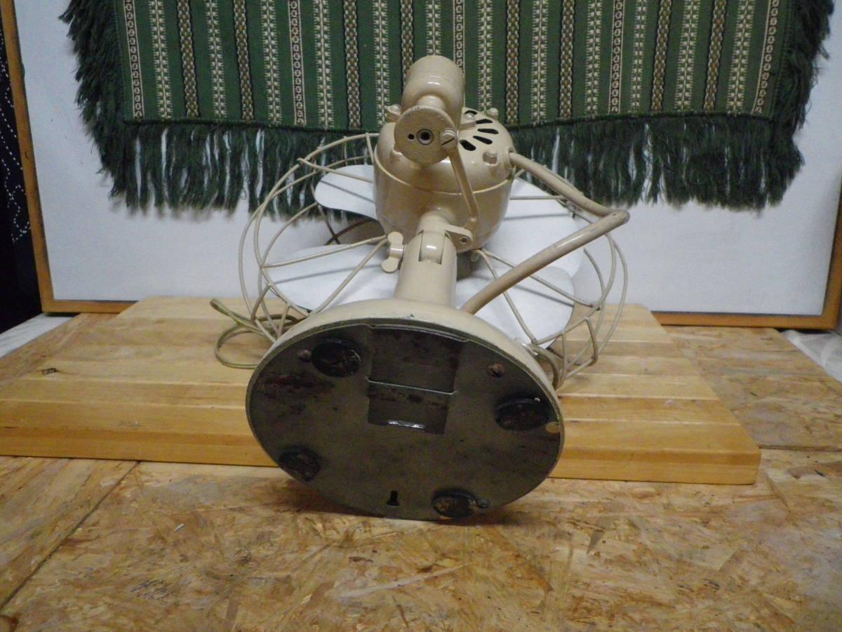 昭和レトロ ★アンティーク 卓上扇風機 ホーロー4枚羽 TOSHIBA・C ERECTORIC FUN ADS-30R-I_画像5