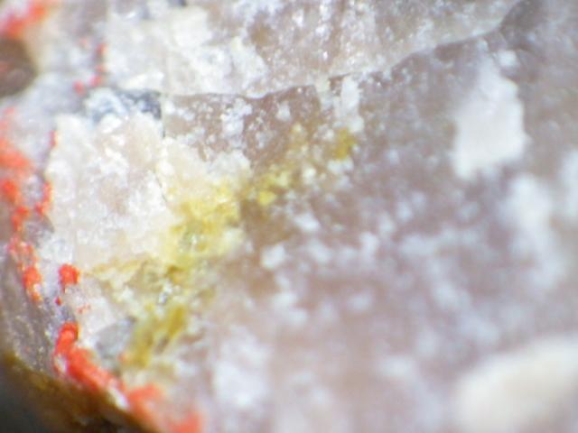 金緑石、サファイア入り紅柱石 福島県石川郡石川町北須釜 重さ約600g_画像4