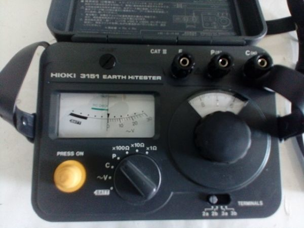 日置 アースハイテスター 3151 ナショナル 漏電火災警報器試験 型式MG-1 2台セット_画像3