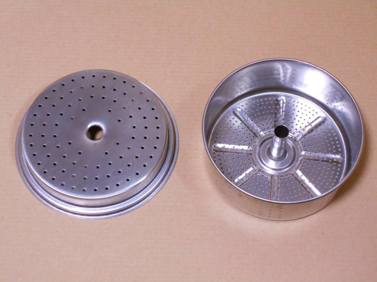 ■GSI 6カップ ステンレス パーコレーター ケトル 1度の使用 検/モチヅキ コーヒー 木製 ウッドハンドル_画像4