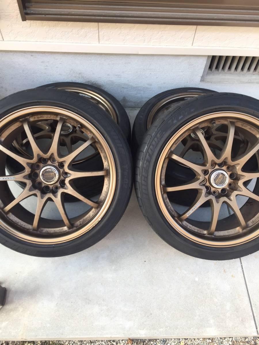 RAYS レイズ CE28 18インチ 8.5J オフセット+30 PCD114.3 5穴 タイヤ付 235/40/18