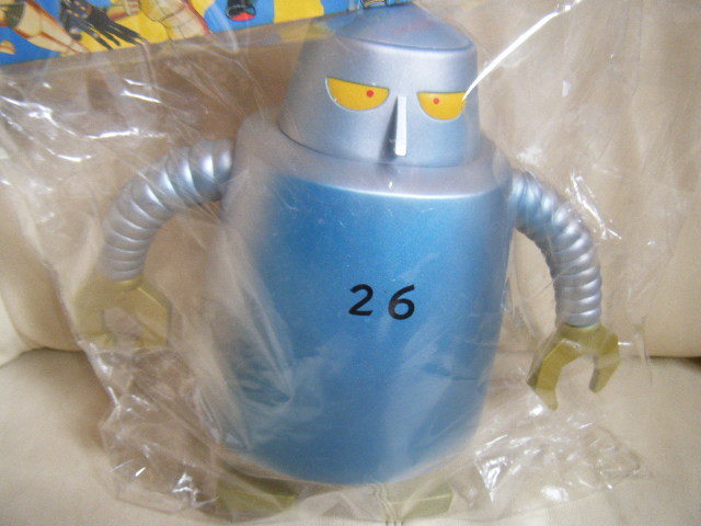 1円~ノスタルジックヒーローズのソフトビニール人形シリーズー 鉄人28号 鉄人26号ソフビ 全長約20cm 未開封_画像2